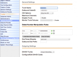 Asterisk Outbound Trunk Configuration